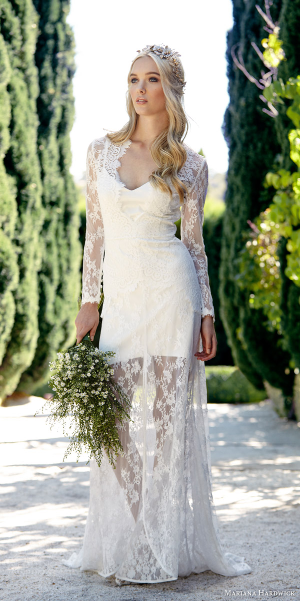 mariana hardwick bride 2015 villa parma ivy long sleeve lace gown peplum