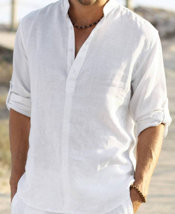 men white shirt outfit ideas1