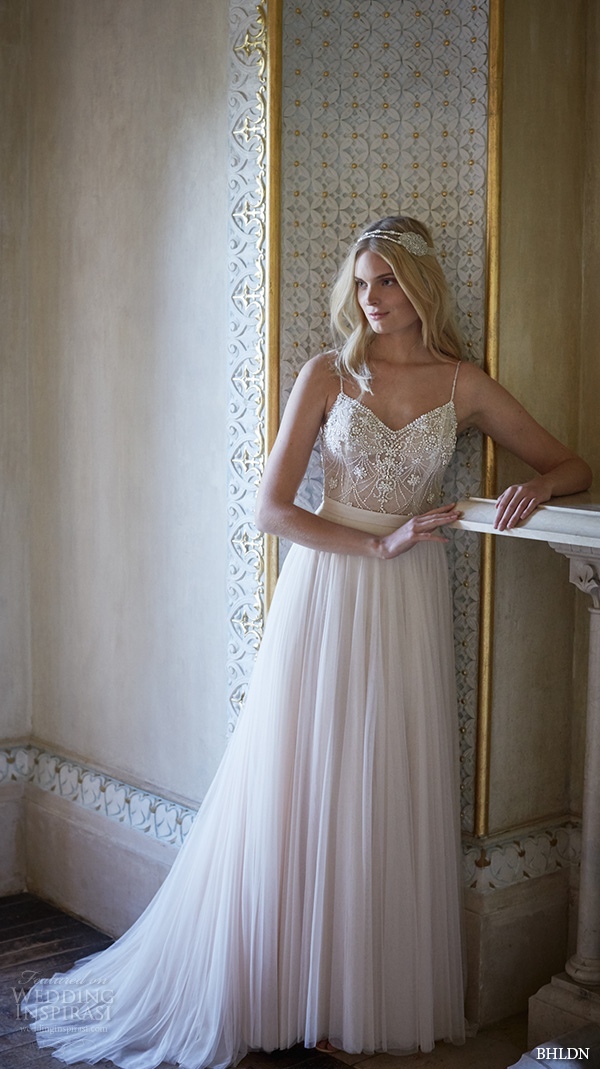 bhldn fall 2015 wedding dresses spagetti strap v neckline beaded ella bodysuit romantic ivory tulle skirt amora