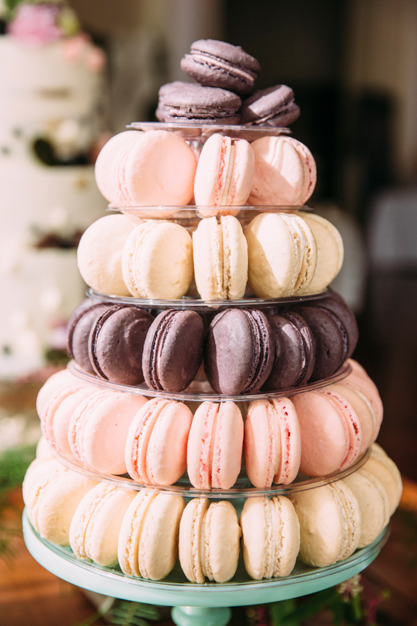 wedding macarons - photo by Under the White Willow Photography http://ruffledblog.com/vintage-london-wedding-inspiration
