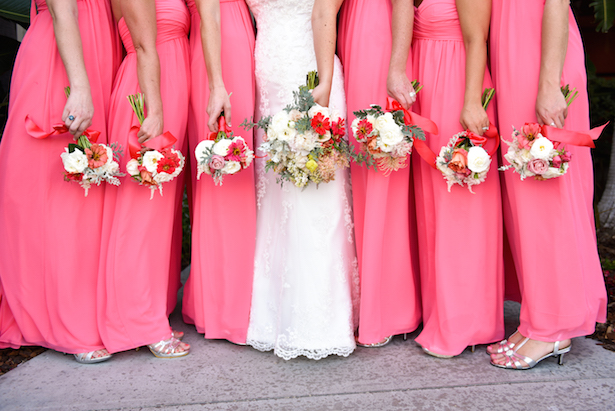 Coral Bridesmaid Dresses - Stephanie Rose Events and Heather Elise Photography