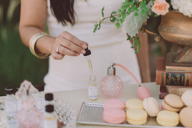 Perfume Bar Idea for Bridal Shower - Cristina Navarro Photography, Fiori The Flower Studio #BTMVendor