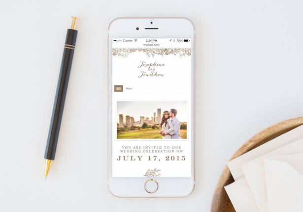 New Wedding Websites by Minted + $  500 Giveaway