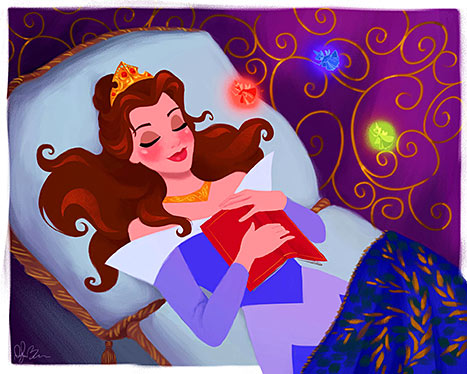 Belle as Sleeping Beauty