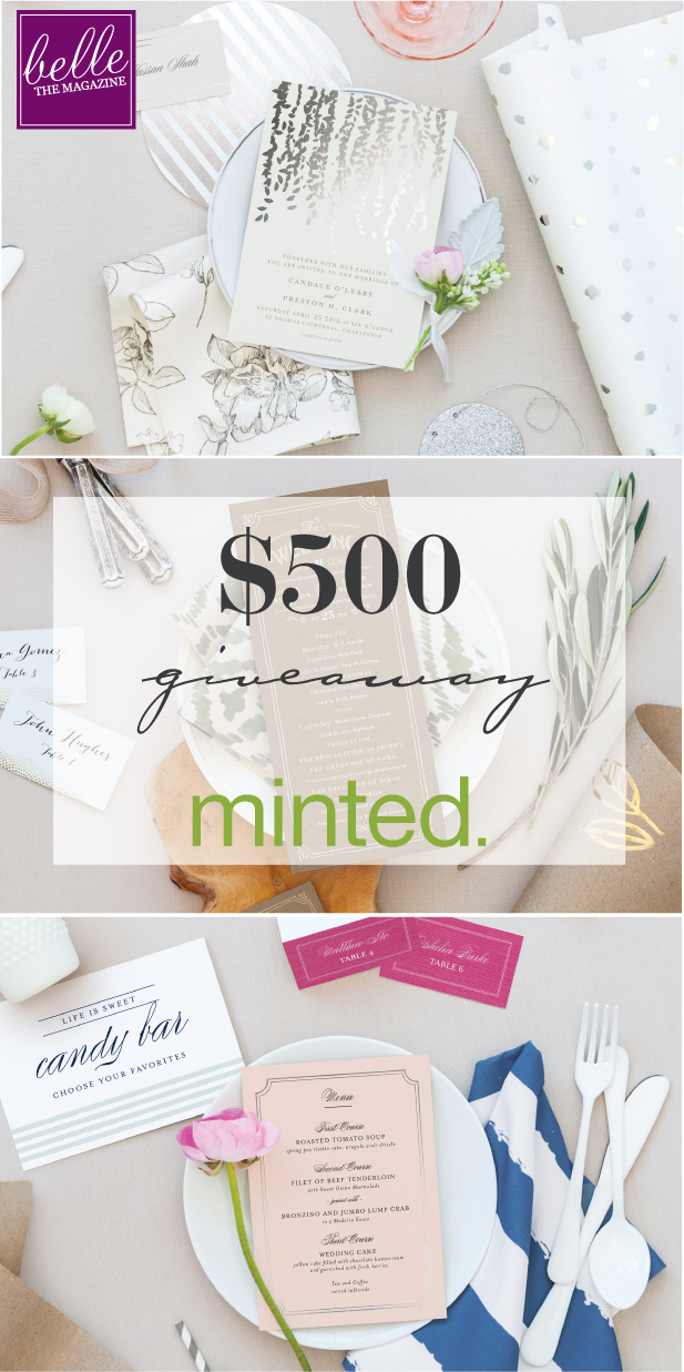 Wedding Invites by Minted + $  500 Giveaway