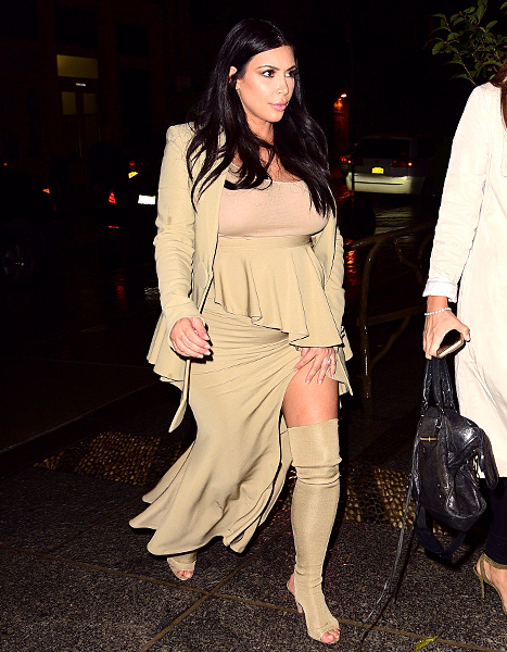Kim Kardashian seen on the streets of Manhattan on September 10, 2015 in New York City.
