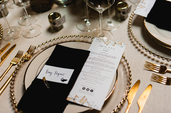modern reception - photo by Chaz Cruz http://ruffledblog.com/boho-glam-wedding-in-colorado
