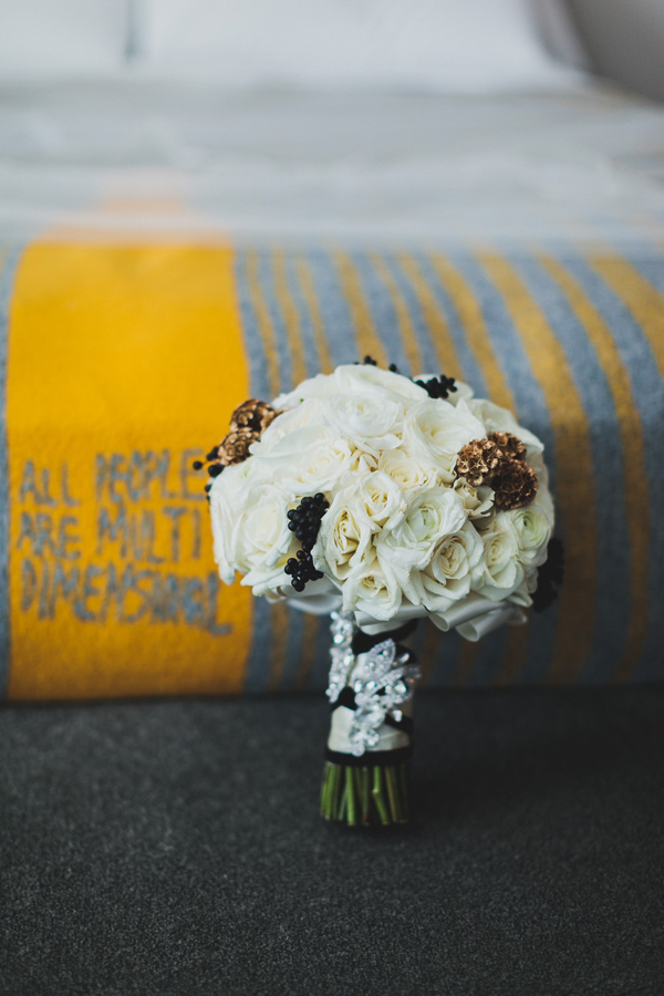 bouquet portrait - photo by Chaz Cruz http://ruffledblog.com/boho-glam-wedding-in-colorado