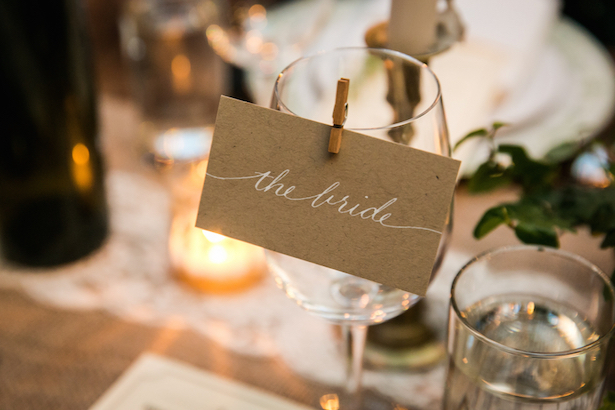 Wedding Place Setting - Kelly Williams Photography