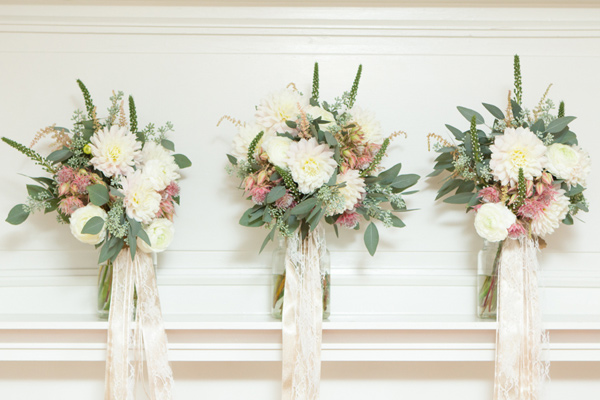 bridesmaid bouquets - photo by Somerby Jones Photography http://ruffledblog.com/herbes-de-provence-wedding-inspiration