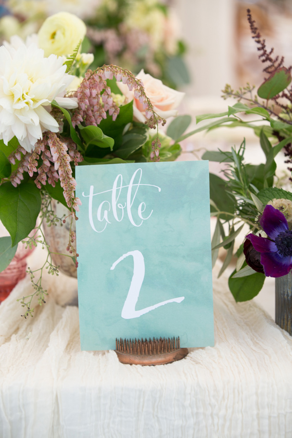 table number - photo by Somerby Jones Photography http://ruffledblog.com/herbes-de-provence-wedding-inspiration