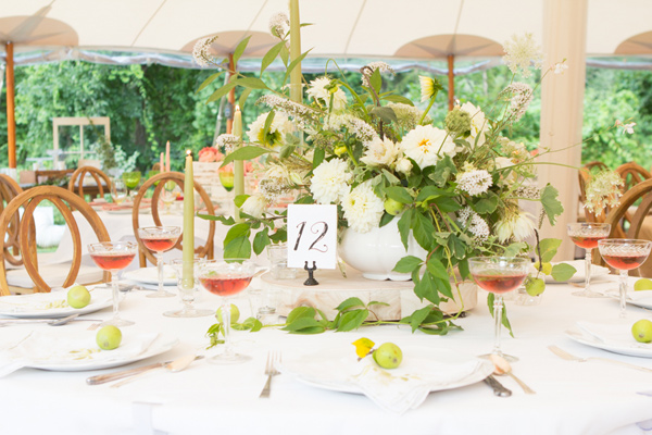 tablescape - photo by Somerby Jones Photography http://ruffledblog.com/herbes-de-provence-wedding-inspiration