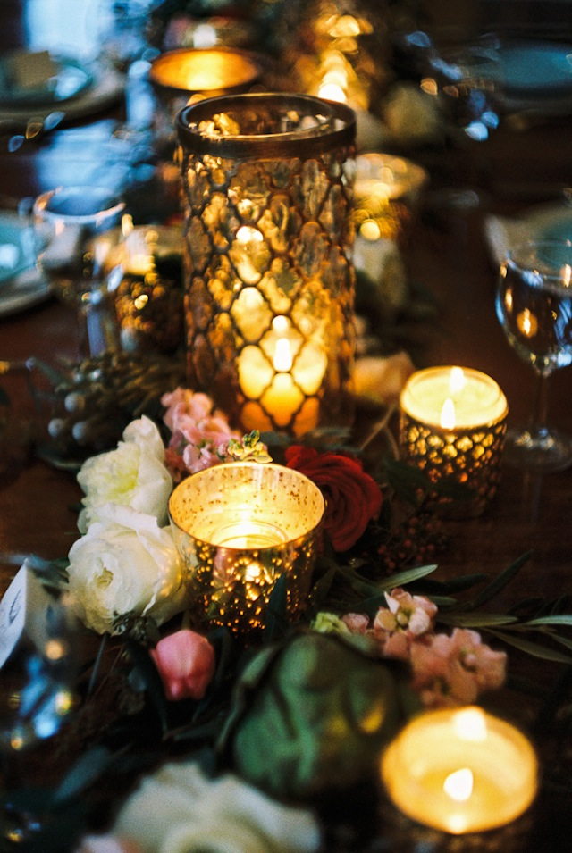 Candle tablescape ⎪Jonathan Kohn⎪see more on: http://burnettsboards.com/2015/09/demure-southern-wedding-home/