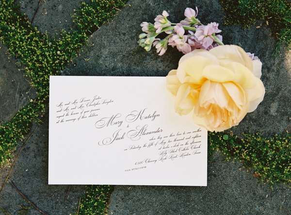 wedding invitation - photo by Austin Gros http://ruffledblog.com/berry-toned-garden-wedding-splendor