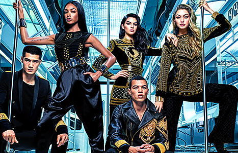 Kendall Jenner, Gigi Hadid and Jourdan Dunn for Balmain x H&M.