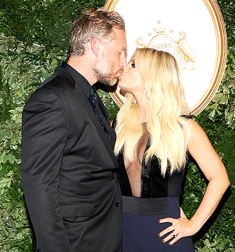Eric Johnson and Jessica Simpson attend Jessica Simpson Collection Presentation Spring 2016 New York Fashion Week on September 9, 2015 in New York City.