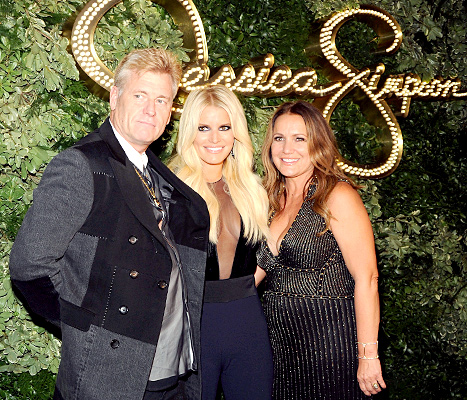 Joe Simpson, Jessica Simpson and Tina Simpson attend Jessica Simpson Collection Presentation Spring 2016 New York Fashion Week on September 9, 2015 in New York City.
