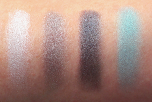 Mirabella Diamond Deceit eyeshadow palette swatches