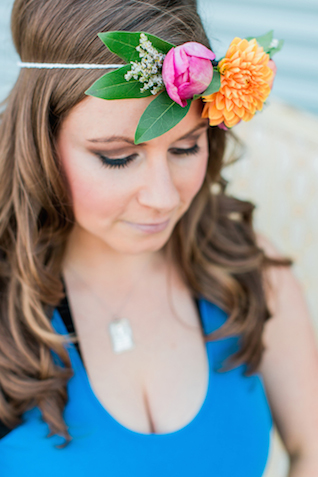 Boho flower crown | Sweetness and Light Photography | see more on: http://burnettsboards.com/2015/09/host-networking-party/