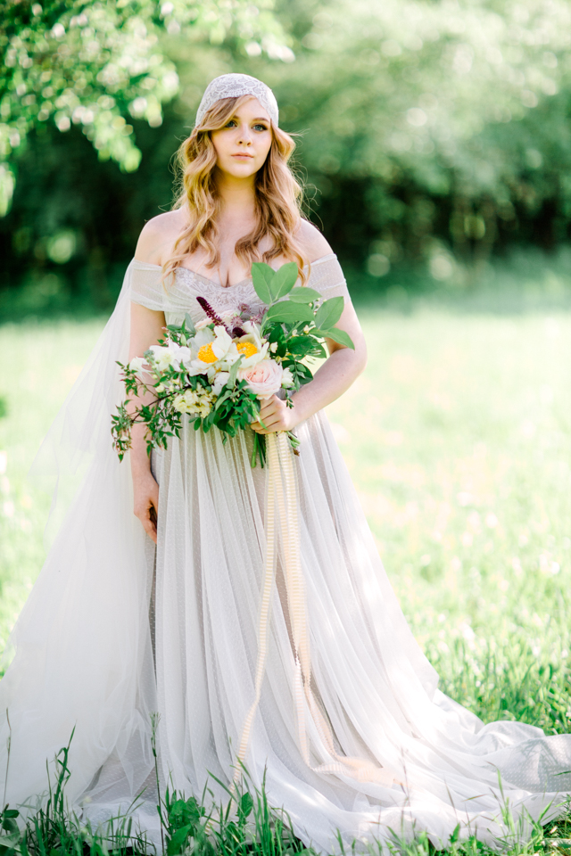 Romantic layered tulle wedding dress | Olga Siyanko | see more on: http://burnettsboards.com/2015/09/lilac-lemon/