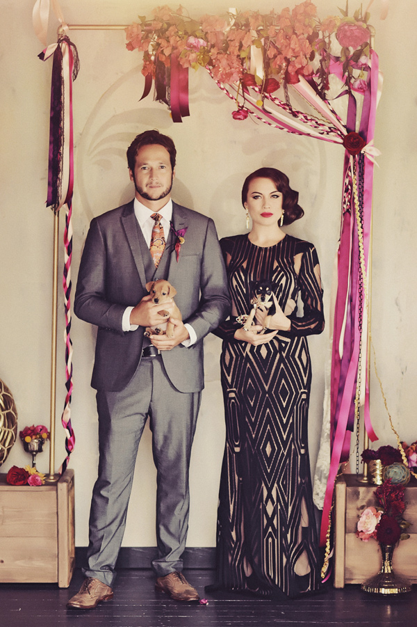 Dia de los Muertos inspiration - photo by Tamiz Photography http://ruffledblog.com/inspired-by-color-wedding-ideas