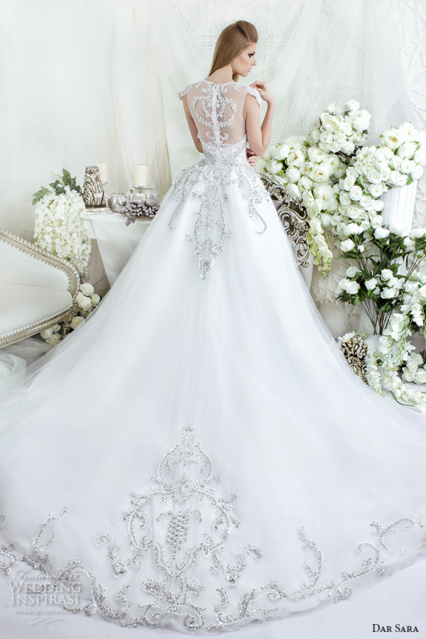 dar sara bridal 2016 wedding dresses stunning illusion back beaded embroidered ball gown