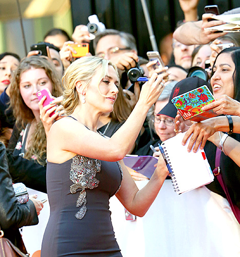 Kate Winslet attends 'The Dressmaker' premiere during the 2015 Toronto International Film Festival at Roy Thomson Hall on September 14, 2015 in Toronto, Canada.