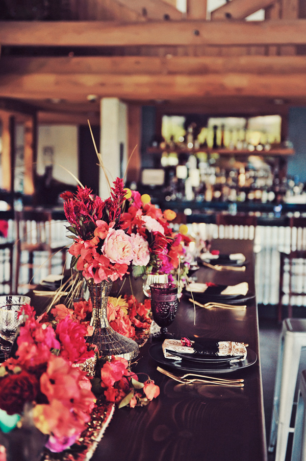 fuchsia wedding ideas - photo by Tamiz Photography http://ruffledblog.com/inspired-by-color-wedding-ideas