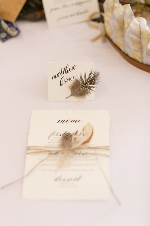 woodsy reception ideas - photo by Jonathan and Kaye Photography http://ruffledblog.com/vintage-london-wedding-inspiration