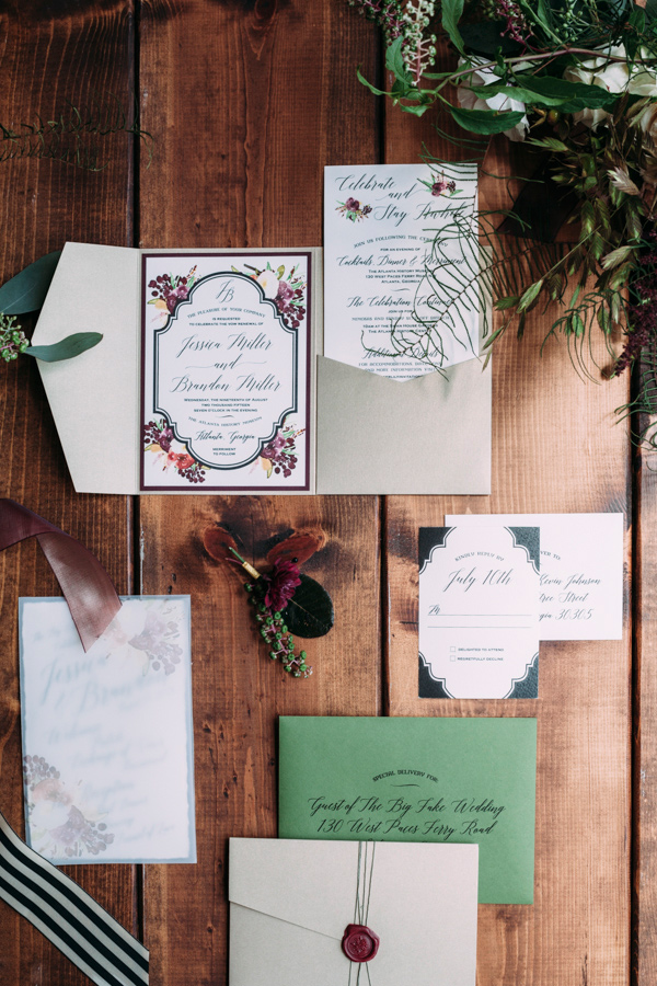 garden wedding invitations - photo by Under the White Willow Photography http://ruffledblog.com/vintage-london-wedding-inspiration