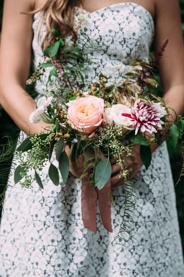 garden bouquet - photo by Under the White Willow Photography http://ruffledblog.com/vintage-london-wedding-inspiration