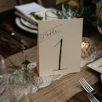 Table Number - Kelly Williams Photography