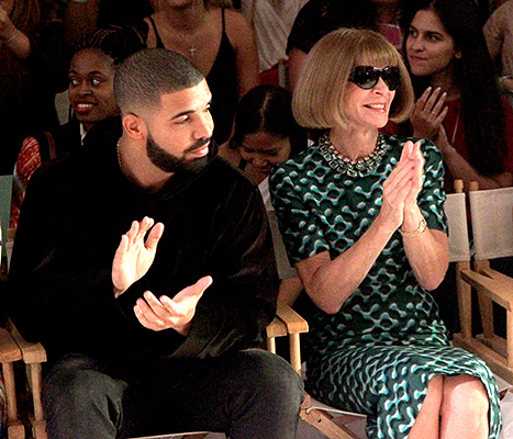 Drake and Anna Wintour attend as KIA STYLE360 Hosts Serena Williams Signature Collection By HSN on September 15, 2015 in New York City. (