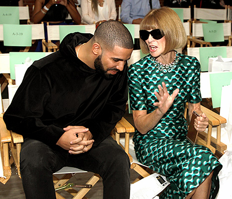 Drake and Anna Wintour attend as KIA STYLE360 Hosts Serena Williams Signature Collection By HSN on September 15, 2015 in New York City.