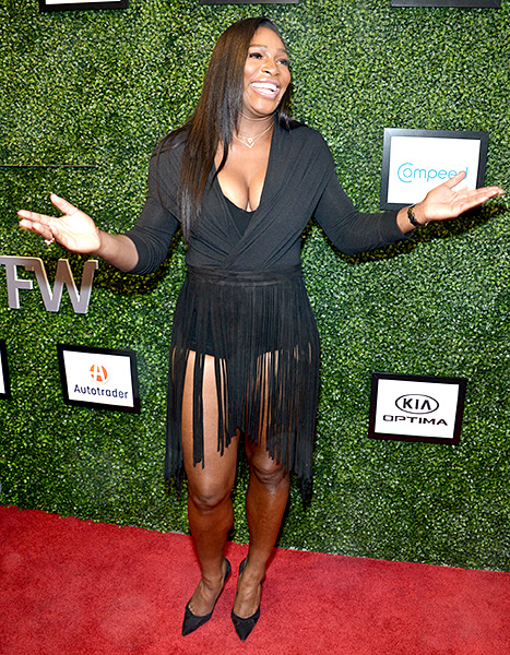 Serena Willams attends the Serena Williams Signature Statement by HSN show during Spring 2016 Style360 on September 15, 2015 in New York City.