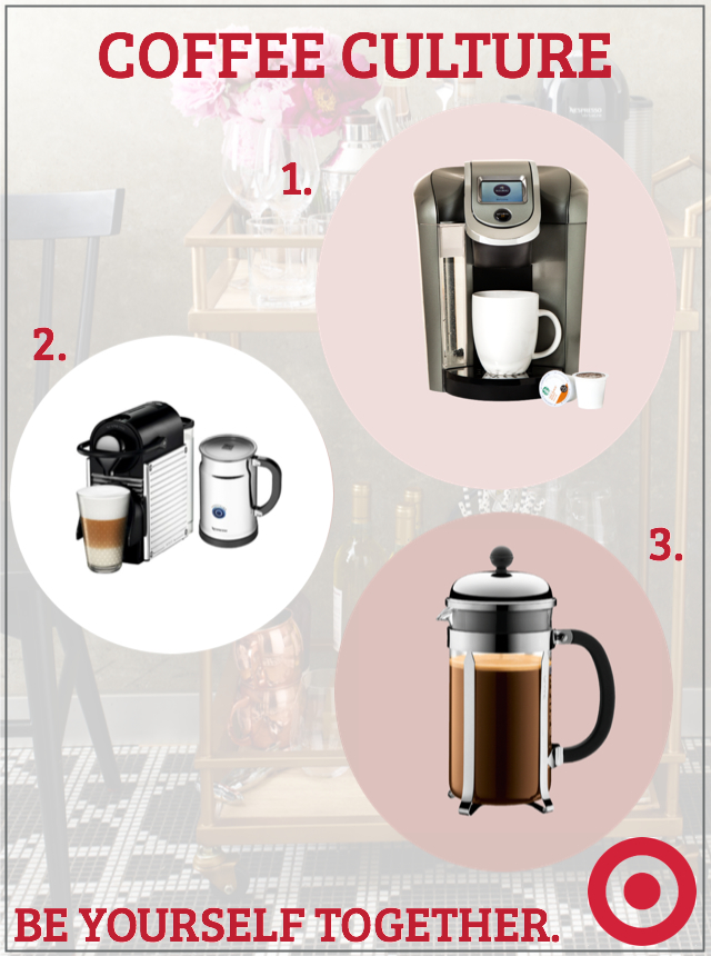 Coffee Essentials from Target's Wedding Registry