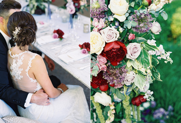berry toned garden wedding splendor - photo by Austin Gros http://ruffledblog.com/berry-toned-garden-wedding-splendor