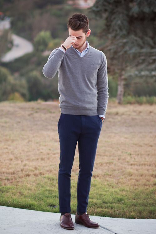 men outfits with brown dress shoes 9