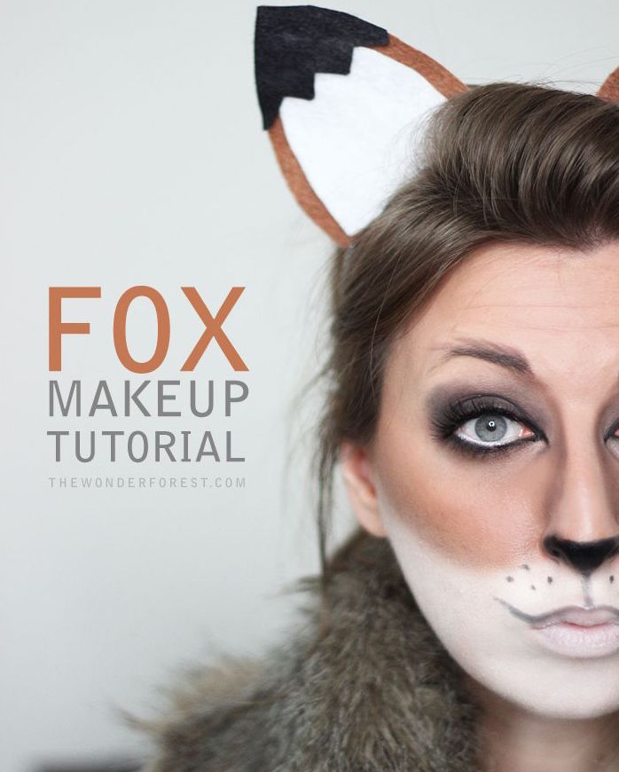 Fox makeup tutorial for halloween