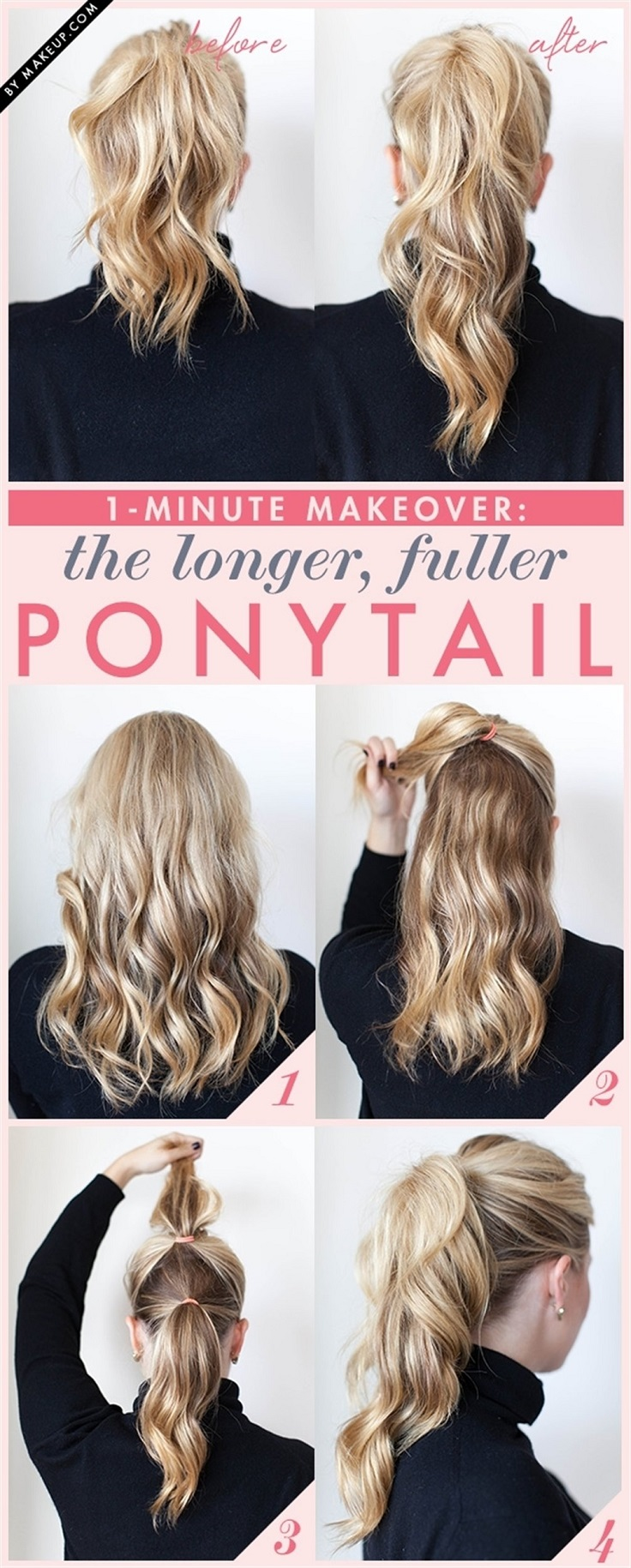 fuller and longer ponytail