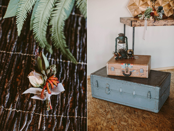 modern safari wedding inspiration - photo by Megan Saul Photography http://ruffledblog.com/modern-safari-wedding-inspiration