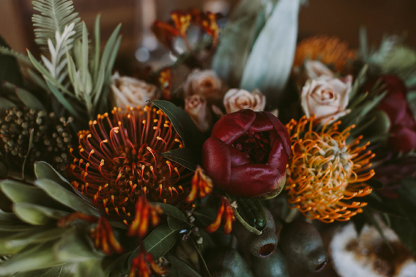 pincushion centerpiece - photo by Megan Saul Photography http://ruffledblog.com/modern-safari-wedding-inspiration
