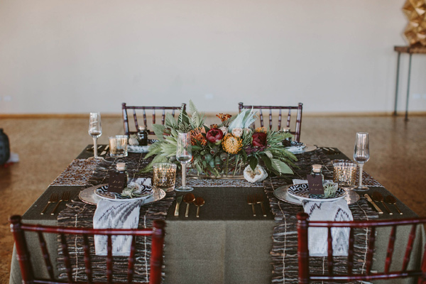 safari wedding inspiration - photo by Megan Saul Photography http://ruffledblog.com/modern-safari-wedding-inspiration