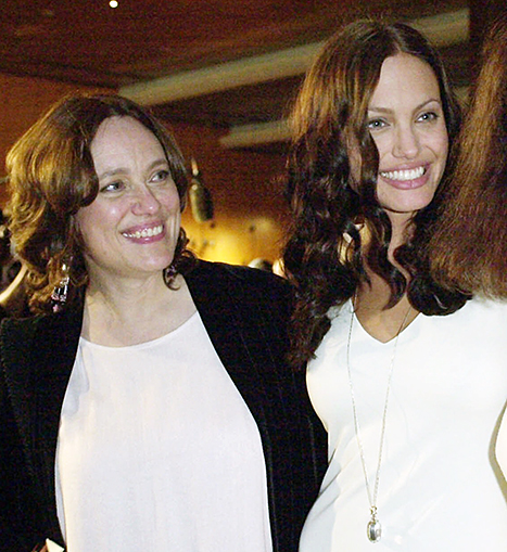 Angelina Jolie and her mother Marcheline Bertrand in 2001