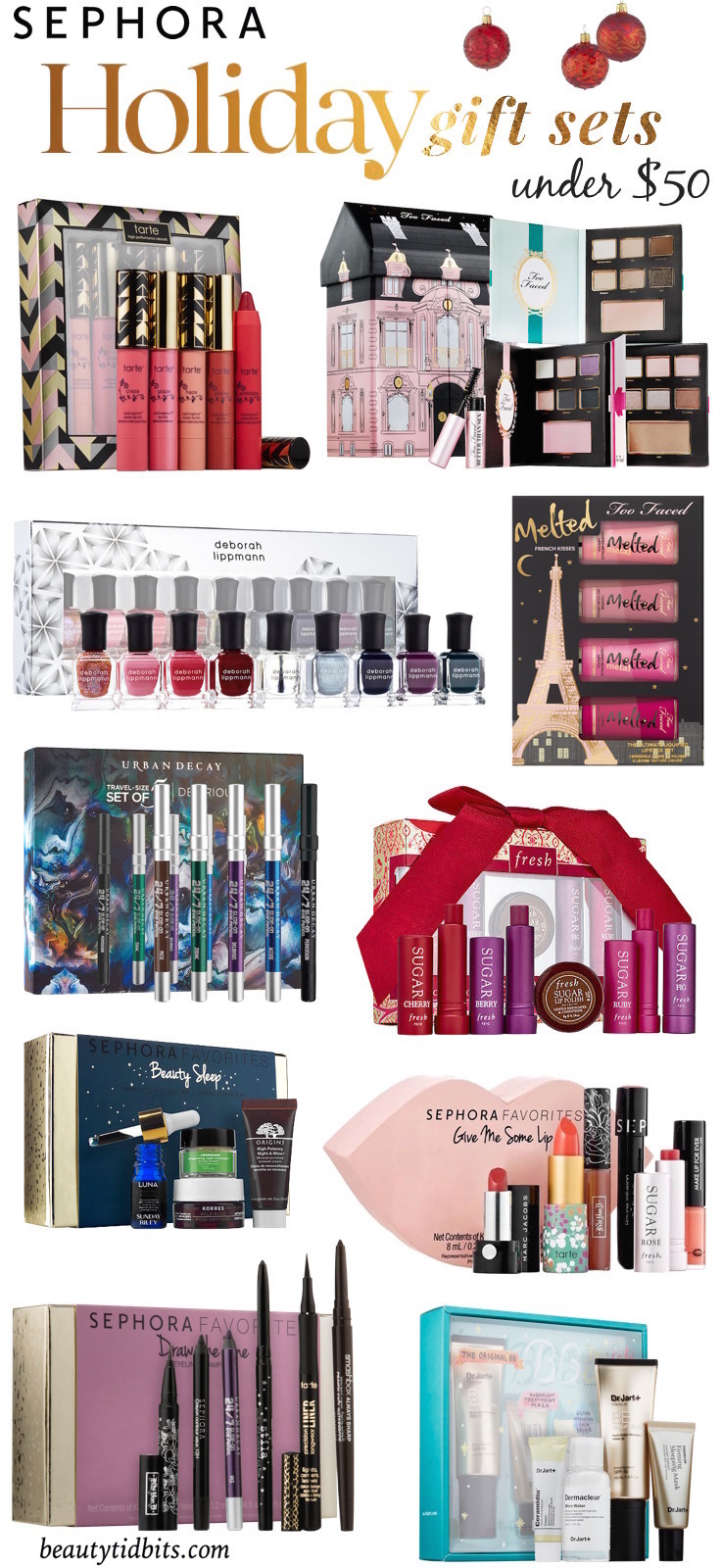 Here's a list of the best Sephora holiday 2015 gift sets under $  50!