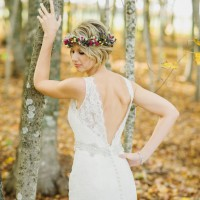 Floral Crown: Fall Wedding Inspiration - Rachel Peters Photography