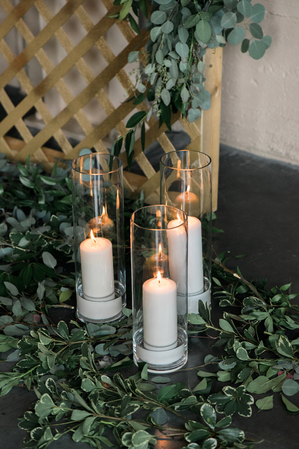 ceremony candles - photo by Lauryn Kay Photography http://ruffledblog.com/rich-hued-portland-wedding-inspiration
