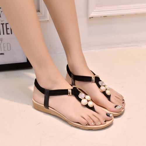 2015-Hot-summer-new-square-rhinestone-buckle-thong-sandals-with-flat-shoes-Korean-flat-sandals-flip