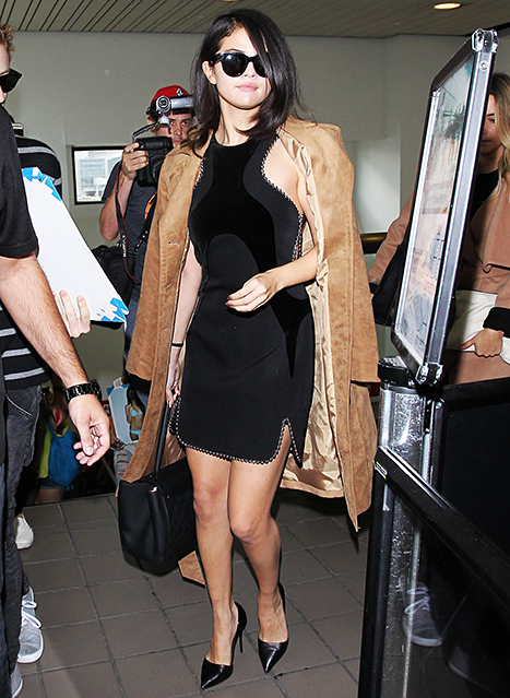 Selena Gomez at LAX on October 14, 2015