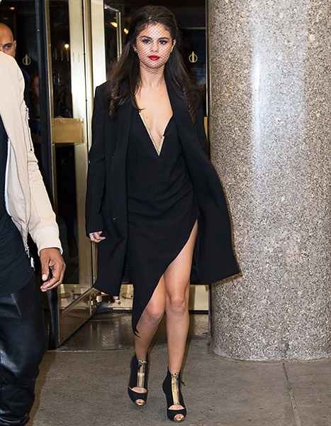 Selena Gomez leaving NBC Studios on October 14, 2015